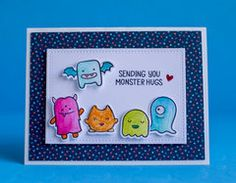 Project Ideas for Lawn Fawn - Halloween - Clear Acrylic Stamps - Monster Mash