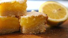 Lemon Bars with Shortbread Crust [OC] : Baking