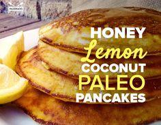 lemon coconut paleo pancakes title card