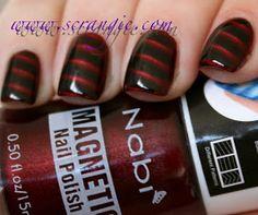 Nabi Magnetic Nail Polish in Wine Magnetic Nail Polish, Zoya Nail Polish, Nail Polishes, Purple Nails, Green Nails, Nail Polish Designs, Nail Art Designs, Wine Nails, Nail Art Design Gallery