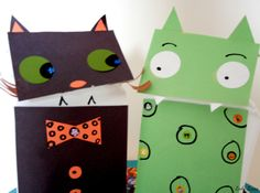 Spooky Fun Paper Crafts - Paper Bag Halloween Puppets - JCFamilies