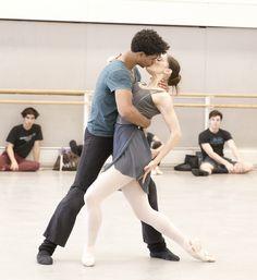 Carlos Acosta and Marianela Nuñez in rehearsal for Carmen, The Royal Ballet © 2015 ROH. Photograph by Andrej Uspenski