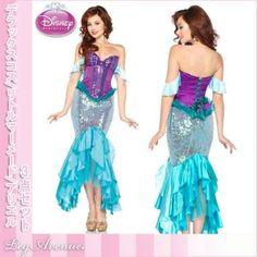 『ディズニーアリエル☆デラックスコスチューム』 ジャスミン/ディズニーリトルマーメードのプリンセス ハロウィン Disney little Mermaid Ariel Princess Costume