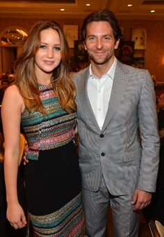 Bradley Cooper  and Jennifer Lawrence, who star in the Silverlinings Playbook! Amazing movie.