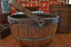 Antique-large-bentwood-apple-gathering-basket-primitive