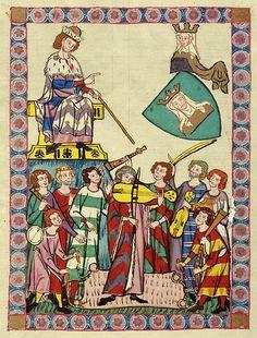 Codex Manesse, Meister Heinrich Frauenlob, Bibliotheca Palatina in Heidelberg