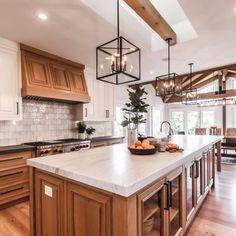 Kitchen Redo, New Kitchen, Kitchen Design, Pottery Barn Kitchen, Oak Kitchen Remodel, Ranch Kitchen, Kitchen Makeovers, Updated Kitchen, Room Kitchen