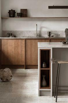 Modern Kitchen Interior Remodeling Is the All-White Kitchen Trend Finally Over? Kitchen Design Color, Kitchen Design, All White Kitchen, Kitchen Trends, Oak Kitchen Cabinets, Kitchen Interior, Kitchen Style, Minimalist Kitchen, Nordic Kitchen