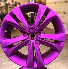 Custom Powder Coated Wheel - Illusion Violet with Casper Clear Top Coat