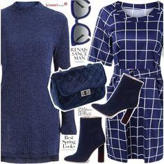 Blue dresses by vanjazivadinovic on Polyvore featuring Aperlaï, Grey Ant, H&M, sammydress, longsleeve and polyvoreeditorial