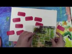 Video showing how to stencil Your Own Tickets with a StencilGirl stencil designed by Carolyn Dube. See the stencil here: http://www.stencilgirlproducts.com/stencil-encouragement-words-carolyn-dube-p/s261.htm