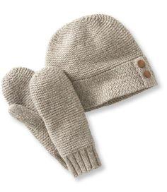 36b3e093463 Basketweave Hat and Mitten Set  Accessories