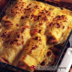 Κανελόνια α λα κρεμ #sintagespareas Tasty Dishes, Food Dishes, Cookbook Recipes, Cooking Recipes, Food Network Recipes, Food Processor Recipes, Cyprus Food, The Kitchen Food Network, Cannelloni