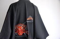 Black Kimono Jacket, Women's Kimono Cardigan, Silk Kimono, Short Kimono, Style Guides, Japanese, Embroidery, Coat, Jackets