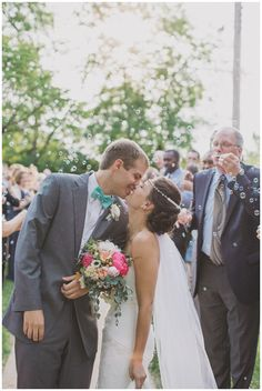 lauren   jake // married | bubbles for the happy couple #wedding