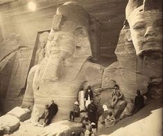 """An image of these two Egyptian monuments before their nose """"fell"""" off. We know that Egypt is the legacy of black people. Hence its called Kemet Ancient Egyptian Art, Ancient Ruins, Ancient Artifacts, Ancient History, Old Egypt, Ancient Architecture, African History, Luxor, Ancient Civilizations"""