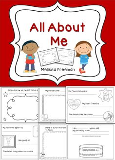 This All About Me book is great to use to get to know your students during the first few weeks of school!