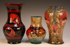 Antique flambe Moorcroft Pottery - made in UK