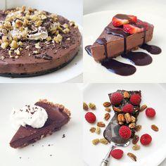 Syötävän hyvä: RAAKAKAKKU-INSPIRAATIOTA Sweet Treats, Cheesecake, Cookies, Baking, Desserts, Food, Crack Crackers, Tailgate Desserts, Sweets