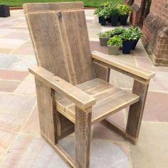 Garden Furniture Belfast Rustic hand made wooden pine garden chair furniture reclaimed bdc workwithnaturefo