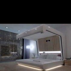 Future Home, Futuristic Bedroom, Futuristic Furniture, Bed Futuristic Bedroom, Futuristic Interior, Futuristic Furniture, Modern Interior, Interior Design, Interior Ideas, Retro Futuristic, Design Interiors, Minimalist Interior