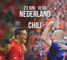 WK 2014 Maandag 23 juni Nederland-Chili