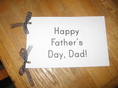 fathers day booklet 590x442 Homemade Fathers Day gift from kids: A book about Dad (with free printable)