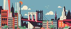 Resultado de imagen para new york dibujo silueta