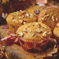 Muffin au potiron et aux noix