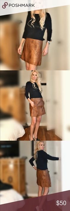 ASOS A-Wear Brown/Copper Leather-Like Mini Skirt ASOS A-Wear Brown/Copper Leather-Like Mini Skirt  UK Size 10 Euro Size 38 US Size 6  The material has slightly different variations of color  Beautiful skirt ASOS Skirts Mini