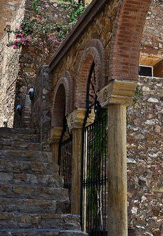 Beautiful arch in the pueblo of Mojacar, Spain.