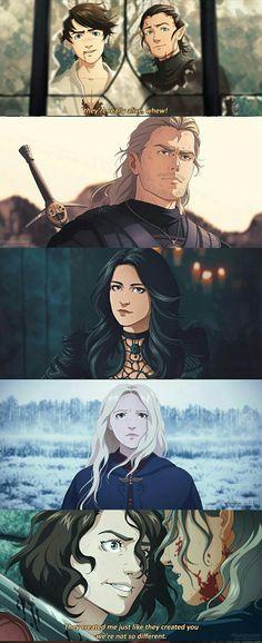 The Witcher Series, The Witcher Books, The Witcher Geralt, Witcher Art, High Fantasy, Fantasy Art, Witcher Wallpaper, Character Art, Character Design