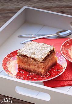 Four layer apple cream cake with nuts. (in Croatian) Kolaci I Torte, Fashion Cakes, Apple Cake, Cream Cake, Cupcake Cakes, Cupcakes, Banana Bread, French Toast, Deserts