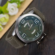LZ Luxury Brand Bwin Vintage Denim Band Wristwatch 5 Colors Complete Calendar Sport Quartz Watch Men Watches 2016 W73