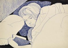 Inge in Bed − by Alasdair Gray