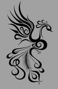 Line Drawings of Birds - Tattoo