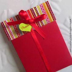 """DIY: Cartão """"Presente de aniversário"""""""