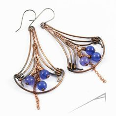 Innovative Wire Wrapped Earrings by Arrabeska - The Beading Gem's Journal