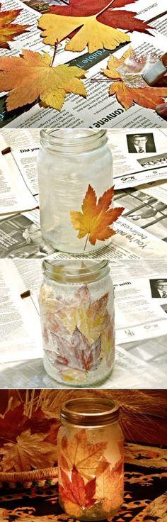 Maple Leaf Mason Jars Are A Super Easy DIY