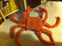 Knitted crab.