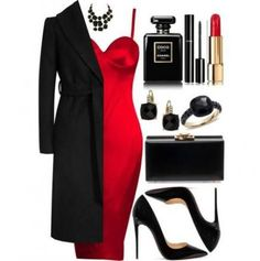 66 new Ideas dress party night red outfit Mode Outfits, Sexy Outfits, Stylish Outfits, Party Kleidung, Mode Glamour, Look Fashion, Womens Fashion, Winter Fashion, Looks Chic