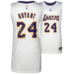 NBA-Autographed Los Angeles Lakers Kobe Bryant White Swingman Jersey with Mamba Out Inscription - Limited Edition of 124 $1,499.99