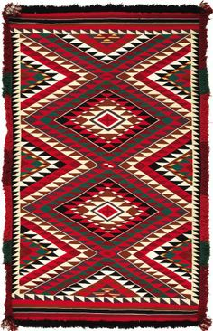 NAVAJO GERMANTOWN EYE DAZZLER WEAVING. c. 1900...