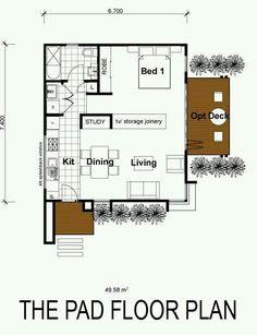 i like this floor plan. 700 sq ft 2 bedroom floor plan | build or