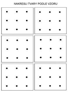 Pro Šíšu: Dot to dot Dyslexia Activities, Drawing Activities, Montessori Activities, Grade R Worksheets, Preschool Worksheets, Preschool Learning, Visual Perception Activities, Prewriting Skills, Pre Writing