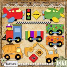Boys Toys 1 - Cheryl Seslar Country Clip Art : Digi Web Studio, Clip Art, Printable Crafts & Digital Scrapbooking!