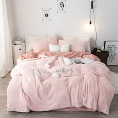 DecBest Chenille Crystal Velvet Bedding Set Full Queen King Quilt Cover Bed Sheet Pillowcase is hot sale on Newchic with discounts Mobile. Velvet Bedding Sets, Pink Bedding Set, Queen Bedding Sets, Pink Bed Sheets, Queen Bed Sheets, Creative Beds, Chenille, Queen Beds, King Queen