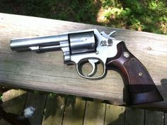 """This is a Smith & Wesson Model 65, 357 Mag with 4"""" barrel. It was a police department trade. Today I practiced drawing from a Bianchi thumb break holster and firing two quick rounds. I often carry this gun in an exposed holster when out in the woods or at the farm.    What do you carry, in such cases?    Aim Straight,    Larry Potterfield"""