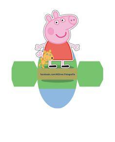 Peppa and George Pig: Free Printable Dress Shaped Boxes. Peppa E George, George Pig Party, Fiestas Peppa Pig, Cumple Peppa Pig, Peppa Pig Printables, Free Printables, Printable Party, Vestido Peppa Pig, Oh My Fiesta