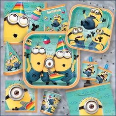 Despicable Me party plates- I want these for my b-day Nat!